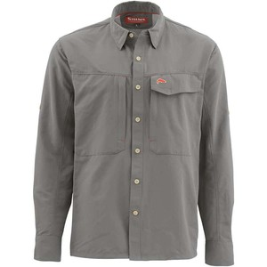 Фото Рубашка Simms Guide LS Shirt - Solid, Pewter