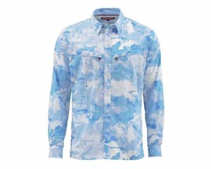 Фото РУБАШКА SIMMS INTRUDER BICOMP LS SHIRT, CLOUD CAMO BLUE