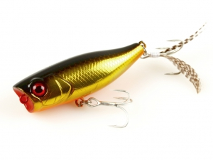 Фото Воблер Jackall Chubby Popper 42 246 hl gold and black