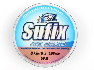 Фото Шнур зимний Sufix Ice Braid 50m 0.08mm 3.7 кг grey
