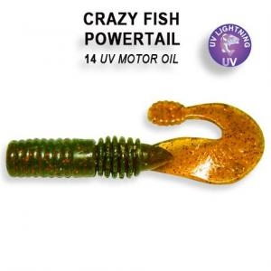 Фото Мягкая приманка Crazy Fish Powertail 70мм #14
