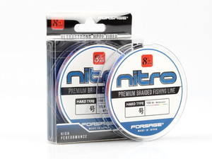 Фото Шнур Forsage Nitro 8 Braid Hard Type 150 m 3 Colors # 1.0