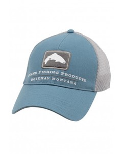 Фото Кепка Simms Trout Trucker Cap Blue Stream