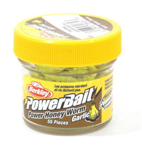 Фото Приманка Berkley POWERBAIT Honey Worm 2.5cm Garlic Yellow