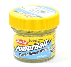 Фото Приманка Berkley POWERBAIT Honey Worm 2.5cm Hot Yellow