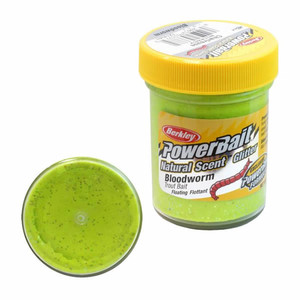 Фото Паста Berkley PowerBait Natural Scent Bloodworm Chartreuse