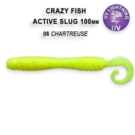 Мягкая приманка Crazy Fish Active Slug 4 100мм #6 купить по цене ...