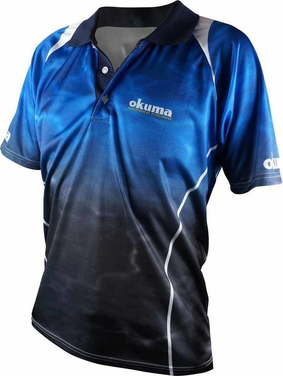 3f1ee13011c4a Футболка Okuma Blue Polo S купить по цене 2 690 рублей - РыбачОК ...